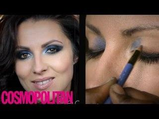 Cosmo beauty tutorial how to: smokey blue eye makeup