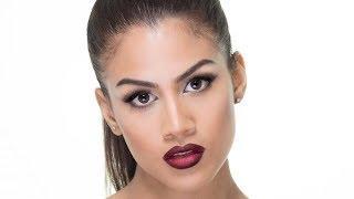 Maquillaje Glam con Labios Oscuros - tutorial