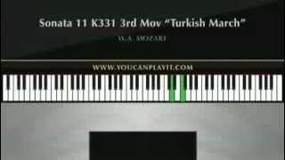 Mozart - Turkish March (Rondo Alla Turca) Advanced Piano Tutorial