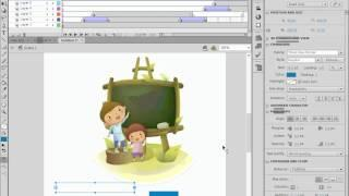 درس تعليمي على برنامج فلاش - Lesson5_1 - تعديل النصوص أثناء Animation