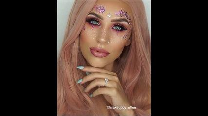 Top Makeup Tutorial - PINK BARBIE FESTIVAL GLAM ✨