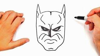 How to draw Batman Face | Batman Face Easy Draw Tutorial