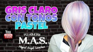 Opal Hair Tutorial. Cabello Gris Claro con Tonos Pastel Fantasía.