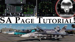 DCS: F/A-18C Hornet | SA Page Tutorial! (Situational Awareness Page)