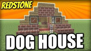 Minecraft PS4 -   REDSTONE DOG HOUSE - Tutorial ( PE / XBOX / PS3 / WII U )