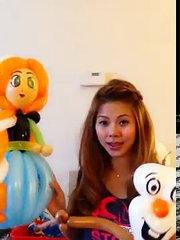 Olaf balloon tutorial - from Frozen Disney
