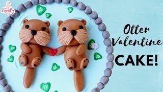 Otter Valentines Day Cake Tutorial! | DIY Valentines Day Cake