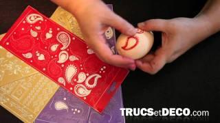 Décoration D'un Oeuf De Pâques - Tutoriel Par Trucsetdeco.com