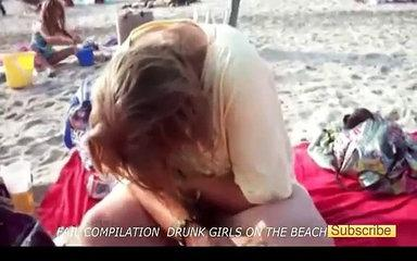 Funny Drunk Girls Beach Fail Compilation