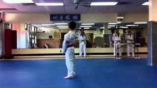Jerich Lee (9 Yrs) TKD Black Belt Test (Form)