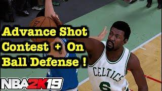 NBA 2K19 On Ball Defense Tips How to Shot Contest Tutorial ADVANCE 2K19 How to Play Defense Tips #13