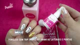 Tutorial Unha Foil - Braziliannail