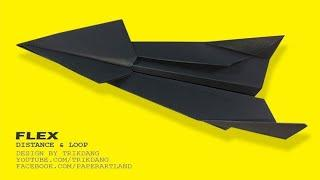 PAPER AIRPLANE TUTORIAL - How to make a Paper Airplane that flies far | Flex