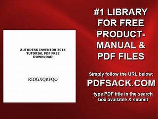 Autodesk Inventor 2014 Tutorial Pdf Free Download