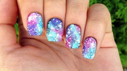 Nail Art Tutorial- Easy Galaxy Print (perfect for beginners!)