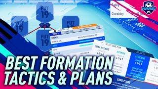 BEST FORMATION in FIFA 19 TUTORIAL! MOST EFFECTIVE FORMATION WITH GAME PLANS & TACTICS