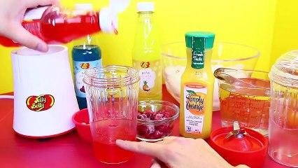 Jelly Belly Slushie Maker Tutorial + Fruit Popsicles DIY Recipes Kids Toys