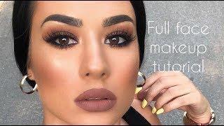 BROWN SMOKEY EYES | Full Face Makeup Tutorial