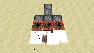 TNT Scatter Machine Gun in 20sec -- Minecraft Tutorial