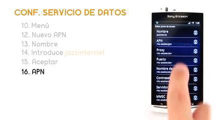 Tutorial Xperia ARC S Servicio Datos - Jazztel