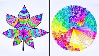 25 Drawing Tricks || Easy Drawing Tutorial