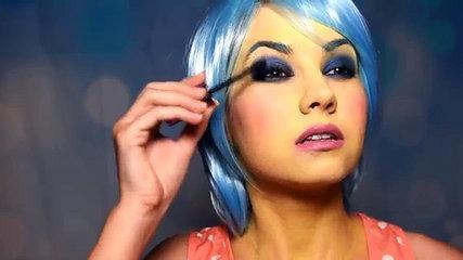 Trajes ASCO Bricolaje dentro alegría maquillaje fuera tristeza Tutorial