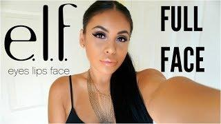 FULL FACE USING ONLY E.L.F MAKEUP TUTORIAL 2017