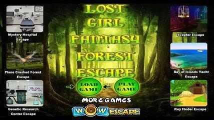 Escapar fantasía bosque chica perdió guau Tutorial