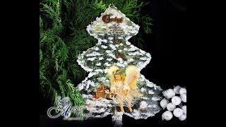 Decoupage Tutorial - Christmas Tree with Angel - DIY