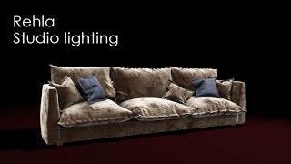 Sofa Studio Lighting 3dsmax Tutorial -  Arabic