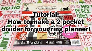 Tutorial | How to make a 2 pocket divider for your ring planner | Planning With Eli