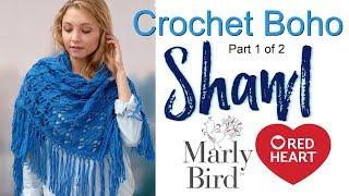 Crochet Boho Shawl Tutorial for Beginners Part 1 of 2
