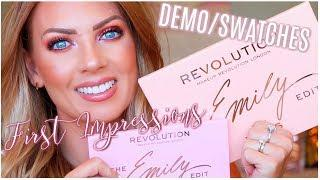 REVOLUTION x THE EMILY EDIT The Wants & Needs Palette | Demo/Tutorial & First Impressions