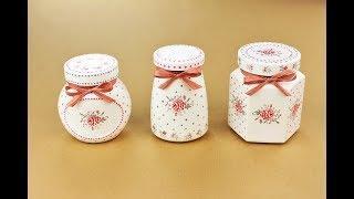 Painted jars - Decoupage jar - Decoupage Tutorial - DIY - Do It Yourself