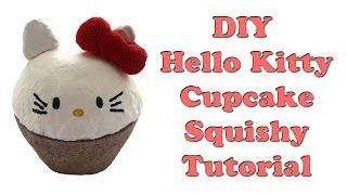 DIY Hello Kitty Cupcake Squishy Tutorial