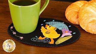 Wooly Mug Mat Series - March Duck | a Shabby Fabrics Tutorial