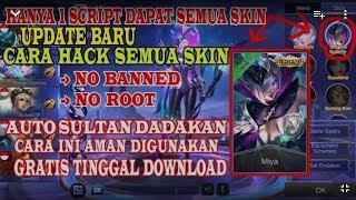 Terbaru!!!tutorial dan cara pemasangan skin gratis Mobile legends 100%work beserta link scriptnya