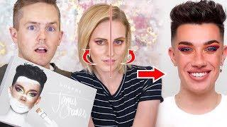 My Husband And I Follow James Charles Make Up Tutorial (Eyeshadow) Who Did The Best?!