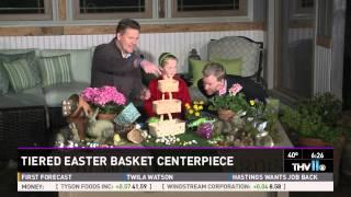Tiered Basket Easter Centerpiece