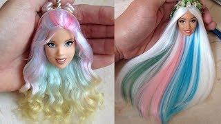 Barbie Hair Tutorial ♥ Barbie Haircut ♥ How To Make Barbie Hairstyles