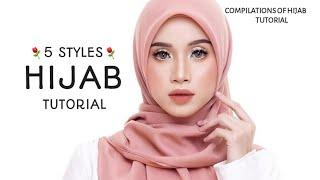 5 STYLES || LATEST || HIJAB SQUARE TUTORIAL|| MOST BEAUTIFUL & SWEETS !!||