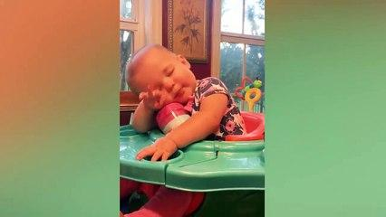 Super Tired Baby - Fun and Fails Baby Video