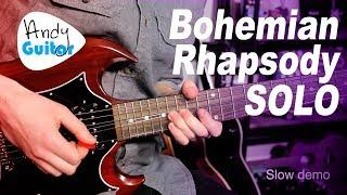 Bohemian Rhapsody SOLO Guitar Lesson Tutorial - Queen