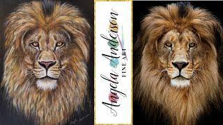 Viewer's Choice Lion Portrait Acrylic Painting Tutorial LIVE