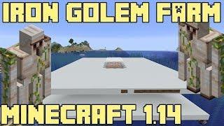 Minecraft 1.14 Iron Golem Farm Tutorial - 500 iron/h
