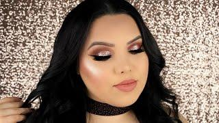 ROSE GOLD HOLIDAY GLAM TUTORIAL + $2000 GIVEAWAY!