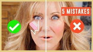 5 Biggest Makeup Mistakes On Mature Face Tutorial Over 50 | Contouring | Highlighting & Blush