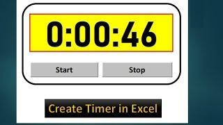 How to Create Timer in Excel VBA - Excel VBA Tutorial