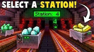 Automatic RAILWAY STATION TRANSPORT System! - Minecraft Tutorial