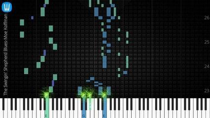 [Piano Solo]The Swingin' Shepherd Blues, Moe Koffman-Synthesia Piano Tutorial